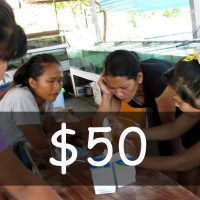 A donation of US$ 50
